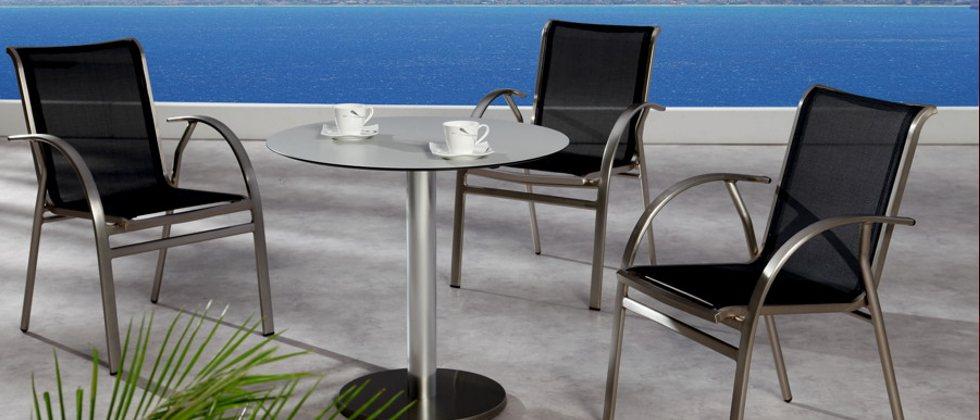gastronomie tische aluminium edelstahl stahl titan eisen outdoor tische seite 2. Black Bedroom Furniture Sets. Home Design Ideas