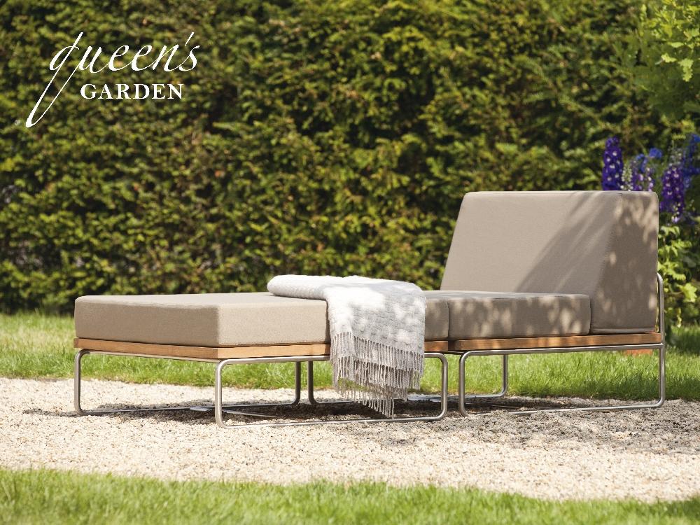 lounge queens garden «baro» lounge-gartenmöbel, teak und edelstahl, Gartenmöbel