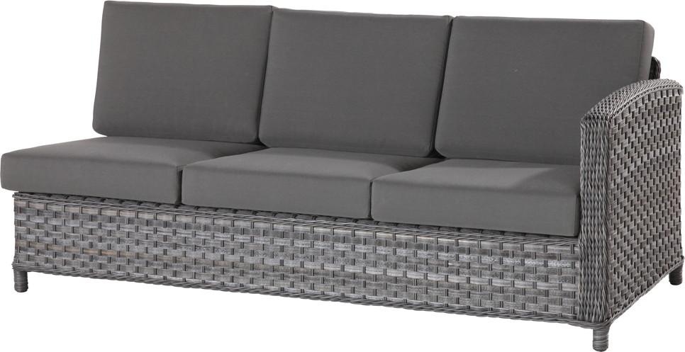 premium polyrattan gartencouch lodge 3er sofa geflecht outdoor lounge online shop g nstig. Black Bedroom Furniture Sets. Home Design Ideas