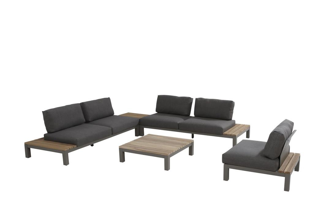 gartenstuhl 4seasons fidji mittelelement loungemodul teakholz inkl kissen vom gastrom bel. Black Bedroom Furniture Sets. Home Design Ideas
