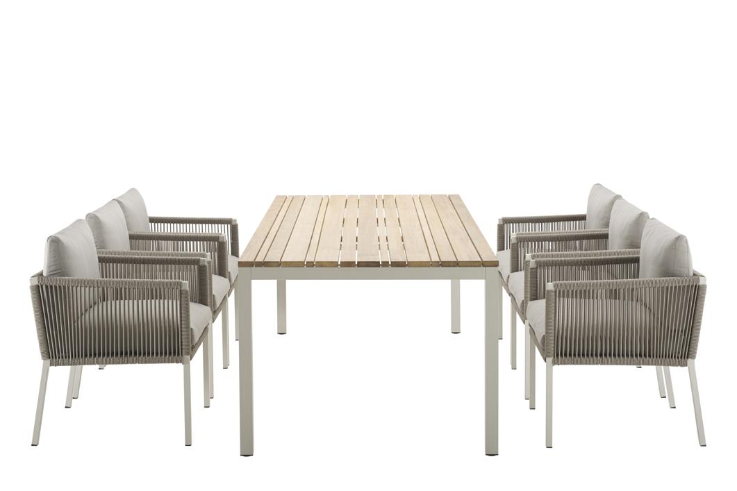 gartenstuhl solpuri club dining sessel taupe aluminium mit kissen vom gastrom bel fachh ndler. Black Bedroom Furniture Sets. Home Design Ideas