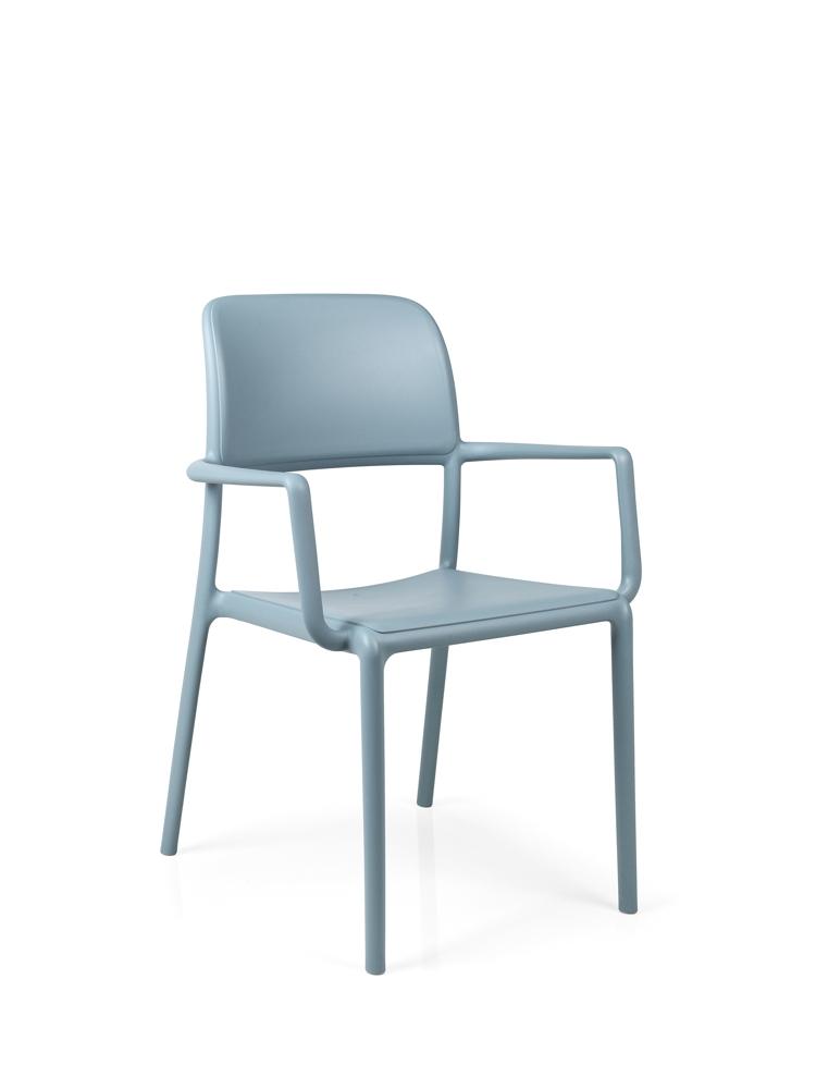 gartenstuhl nardi riva bistrosessel hellblau stapelsessel kunststoffsessel vom gastrom bel. Black Bedroom Furniture Sets. Home Design Ideas