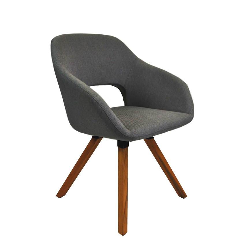 gartenstuhl niehoff nizza teak stativ polster anthrazit. Black Bedroom Furniture Sets. Home Design Ideas