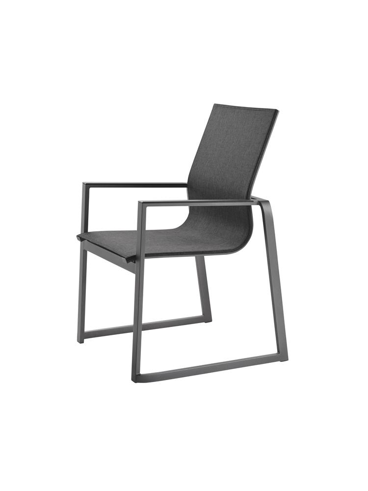 Gartenstühle alu  Gartenstuhl SOLPURI «Foxx Stapelsessel» anthrazit Aluminium | vom ...