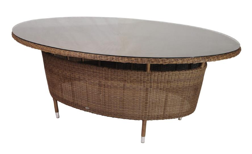 Ovaler Gartentisch.Gartentisch Alexander Rose San Marino Esstisch Oval Mit Glasplatte Rattan Vom Gastromöbel Fachhändler