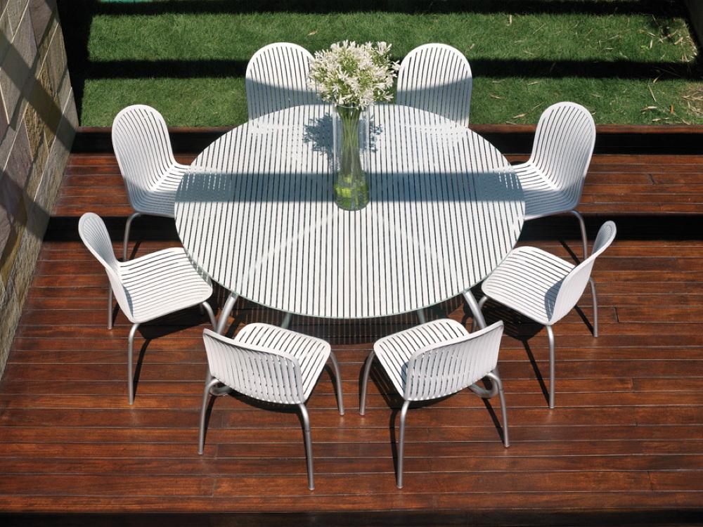 gartentisch nardi loto 170cm wei esstisch glasplatte vom gastrom bel fachh ndler. Black Bedroom Furniture Sets. Home Design Ideas