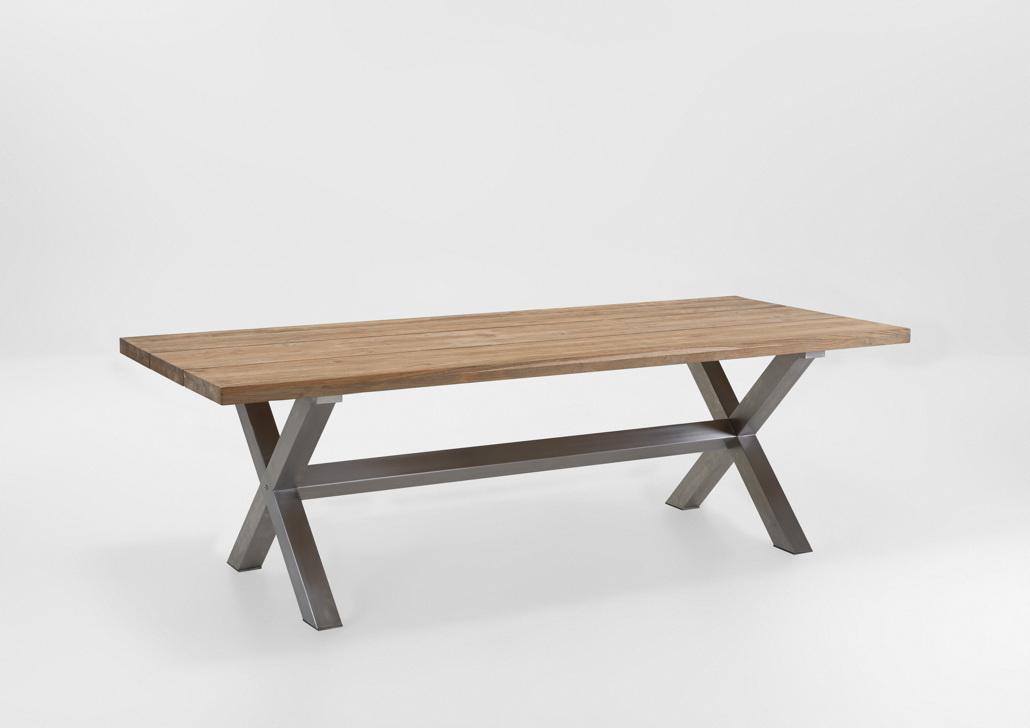 gartentisch niehoff nona esstisch 200x95 teakholz recycled vom gastrom bel fachh ndler. Black Bedroom Furniture Sets. Home Design Ideas