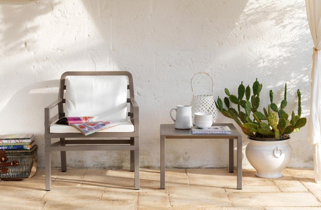 gartentisch nardi aria 60x60 wei couchtisch. Black Bedroom Furniture Sets. Home Design Ideas