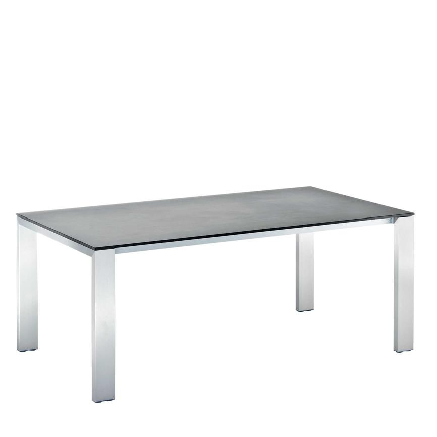 gartentisch niehoff newport ausziehtisch 200x100 hpl beton design esstisch vom gastrom bel. Black Bedroom Furniture Sets. Home Design Ideas