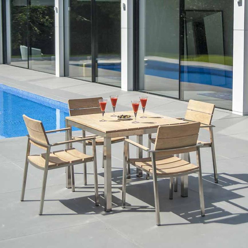 gartenstuhl alexander rose cologne 900 holz stapelstuhl holz edelstahlstuhl vom gastrombel. Black Bedroom Furniture Sets. Home Design Ideas