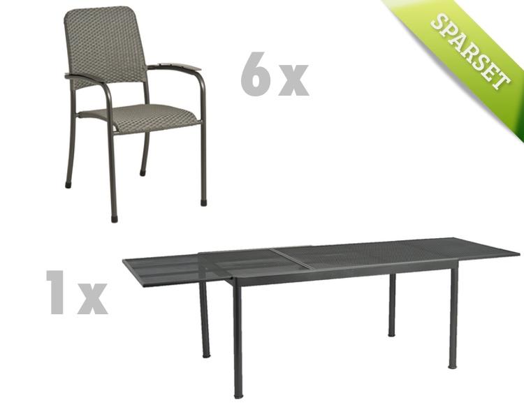 Sitzgruppe Alexander Rose «Portofino Geflecht» Gartenmöbel Set 2