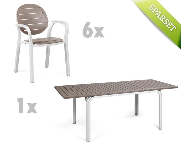 gartenstuhl nardi palma wei taupe stapelsessel. Black Bedroom Furniture Sets. Home Design Ideas