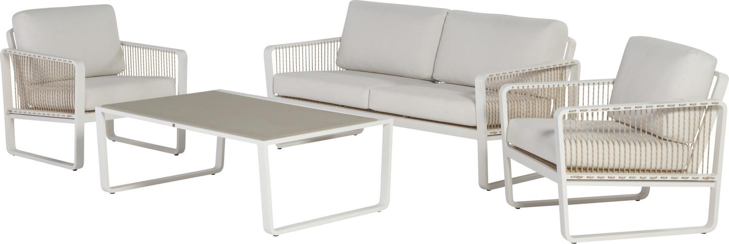 Sitzgruppe «Largo» Gartenmöbelset Lounge, Aluminiumgruppe mit Kissen ...