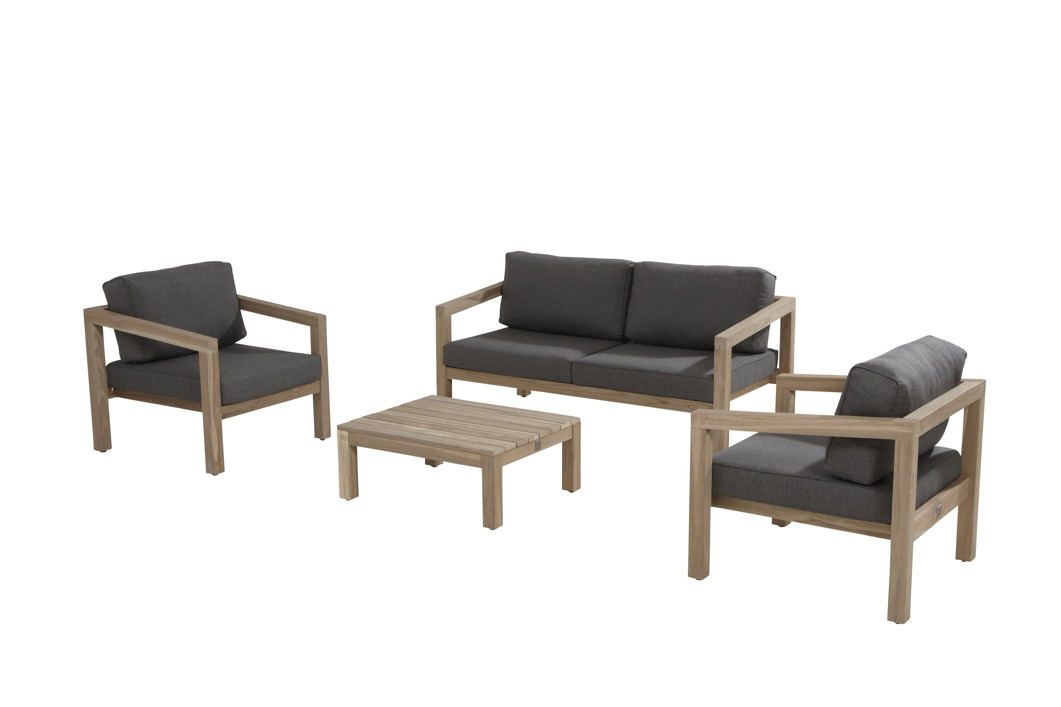 gartenstuhl 4seasons evora loungesessel teakholz inkl kissen vom gastrom bel fachh ndler. Black Bedroom Furniture Sets. Home Design Ideas