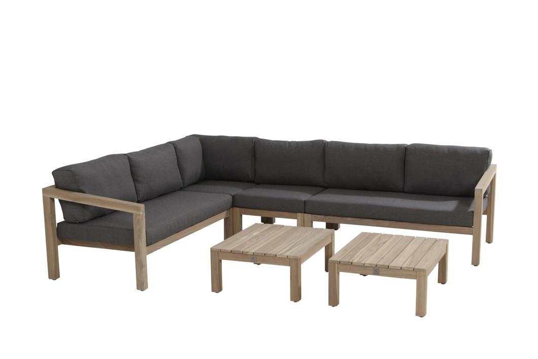 gartenstuhl 4seasons evora loungemodul mittelelement teakholz inkl kissen vom gastrom bel. Black Bedroom Furniture Sets. Home Design Ideas