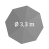 Ø 330 cm, rund