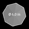 Ø 600 cm, rund
