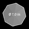 Ø 700 cm, rund