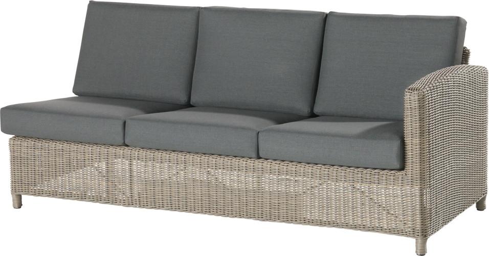 premium polyrattan gartencouch 4seasons lodge 3er sofa geflecht outdoor lounge online shop. Black Bedroom Furniture Sets. Home Design Ideas