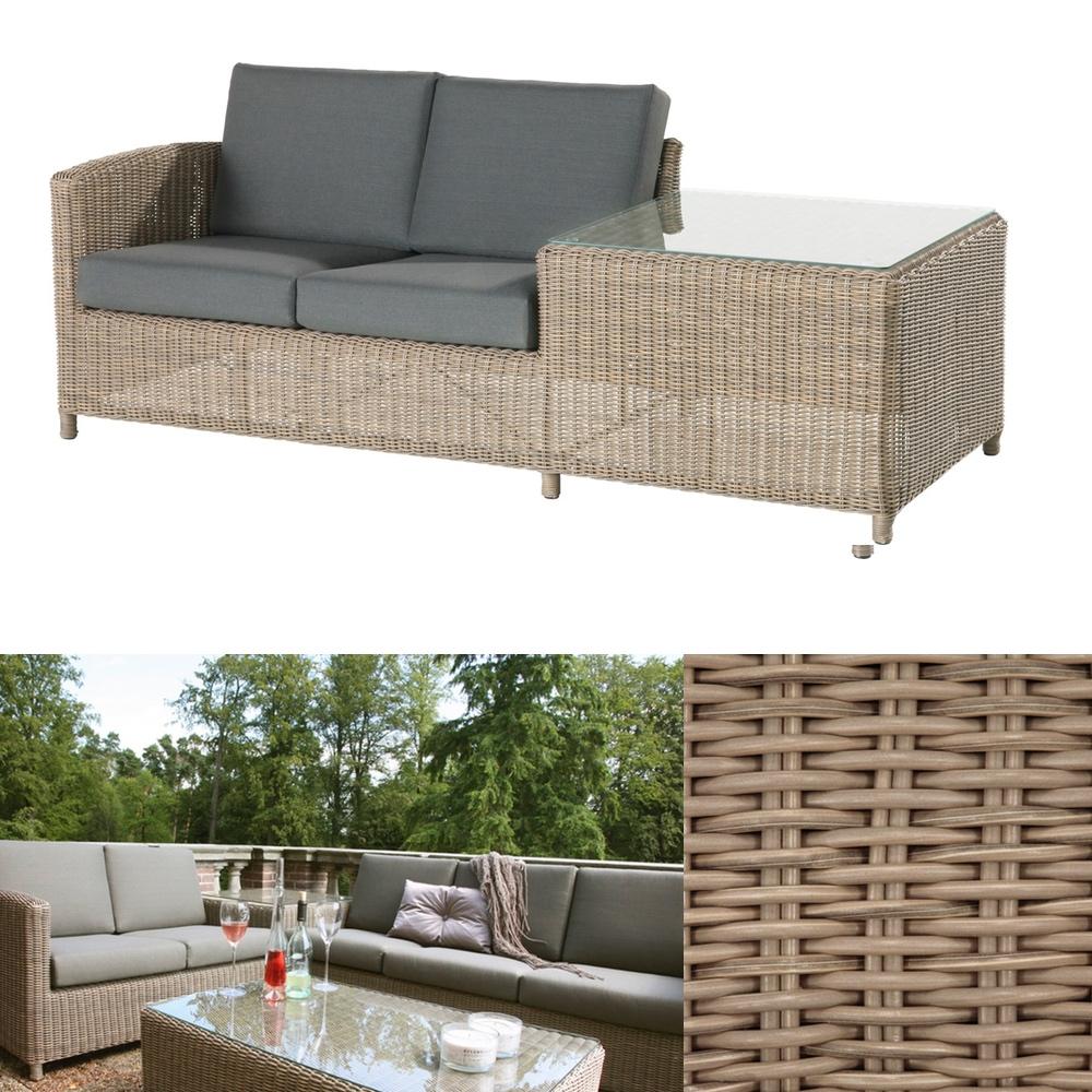 premium polyrattan gartencouch 4seasons lodge 2er sofa. Black Bedroom Furniture Sets. Home Design Ideas