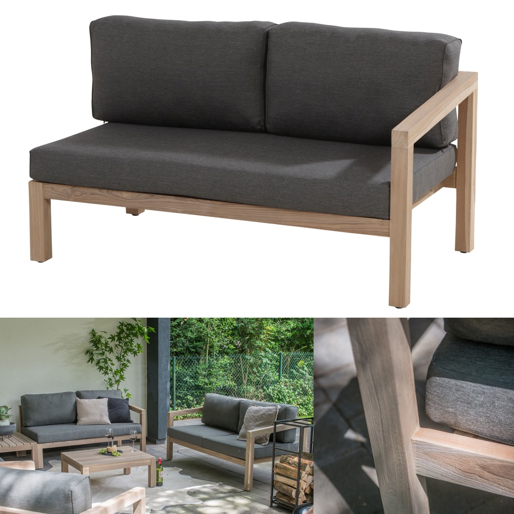 gartenbank 4seasons evora 2 er sofa armlehne links. Black Bedroom Furniture Sets. Home Design Ideas