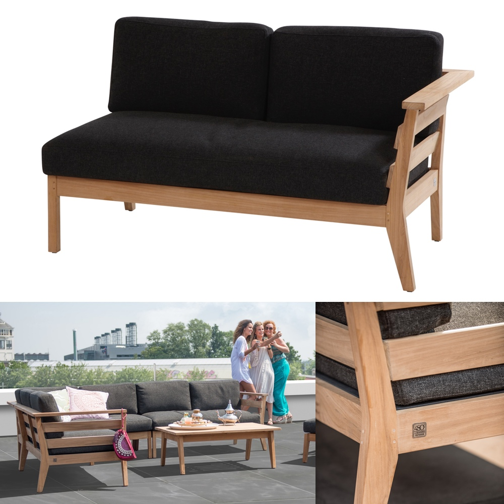gartenbank 4seasons polo 2er sofa endmodul armlehne. Black Bedroom Furniture Sets. Home Design Ideas