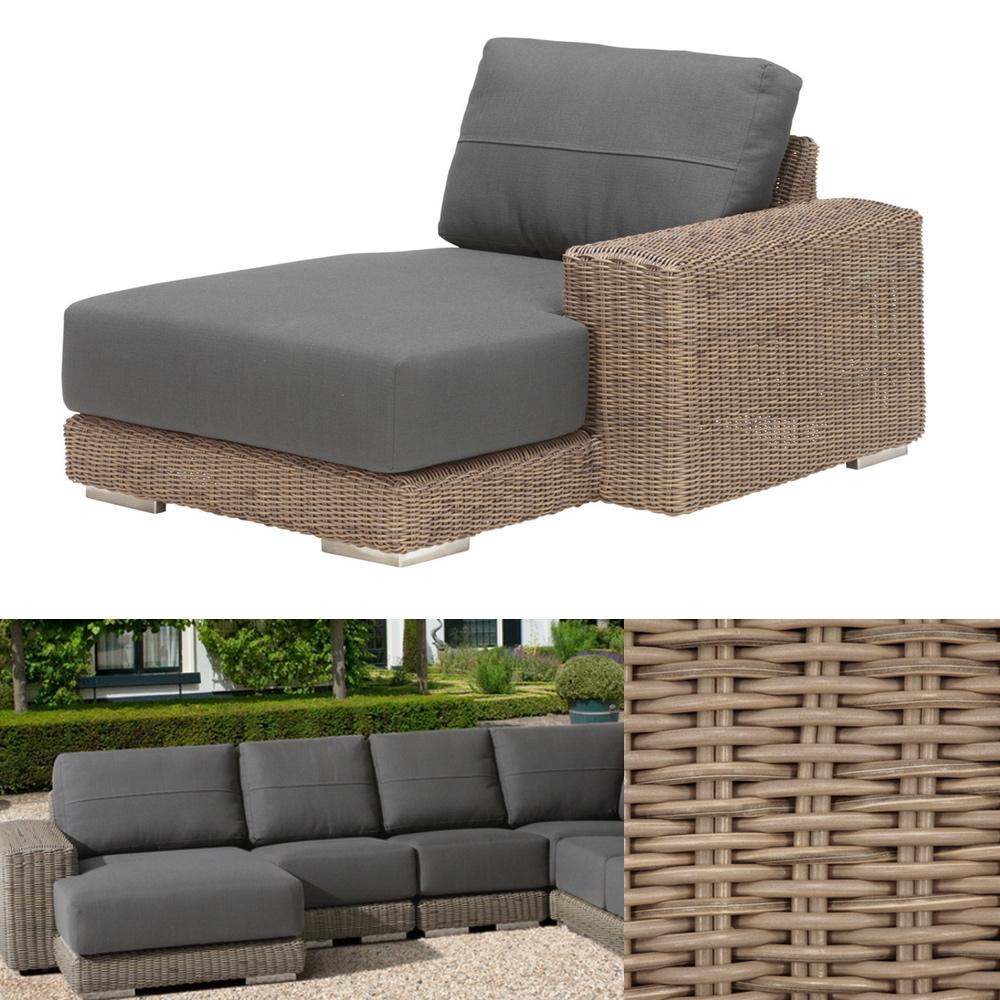gartenliege 4seasons kingston pure recamiere armlehne links korbliege vom gastrom bel. Black Bedroom Furniture Sets. Home Design Ideas