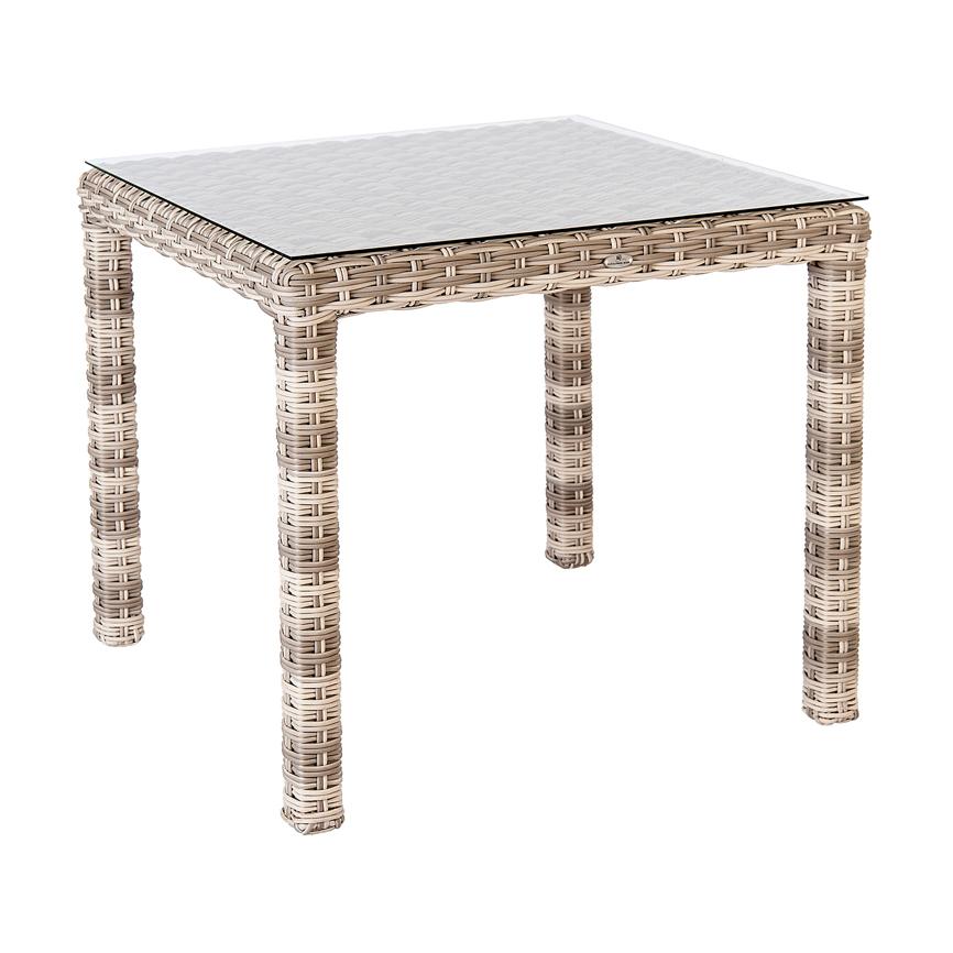 gartentisch alexander rose kool pearl esstisch 80x80cm korbtisch vom gastrom bel fachh ndler. Black Bedroom Furniture Sets. Home Design Ideas