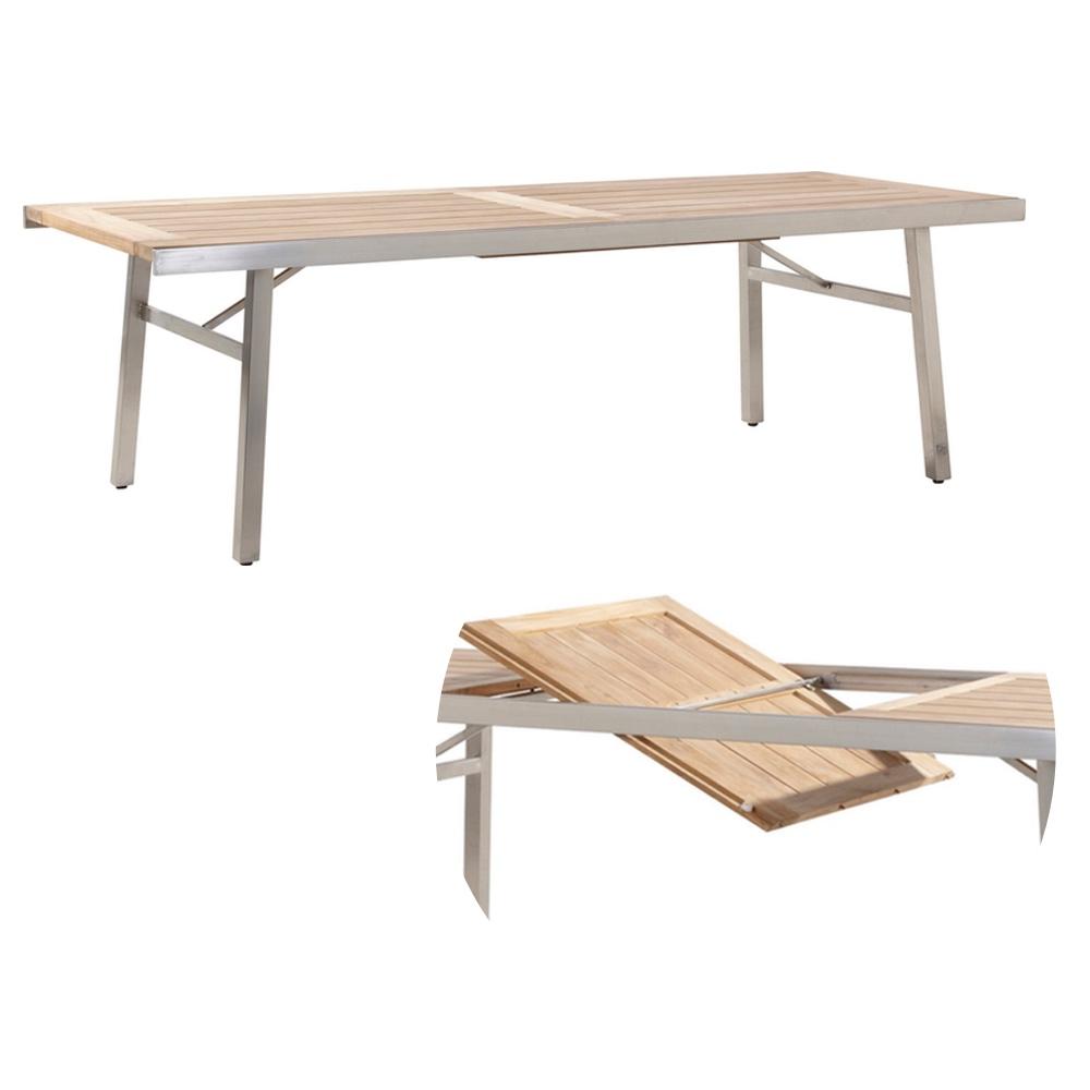 Holz Gartentisch 4seasons Casa 180x90 Esstisch Teakholz Holztisch