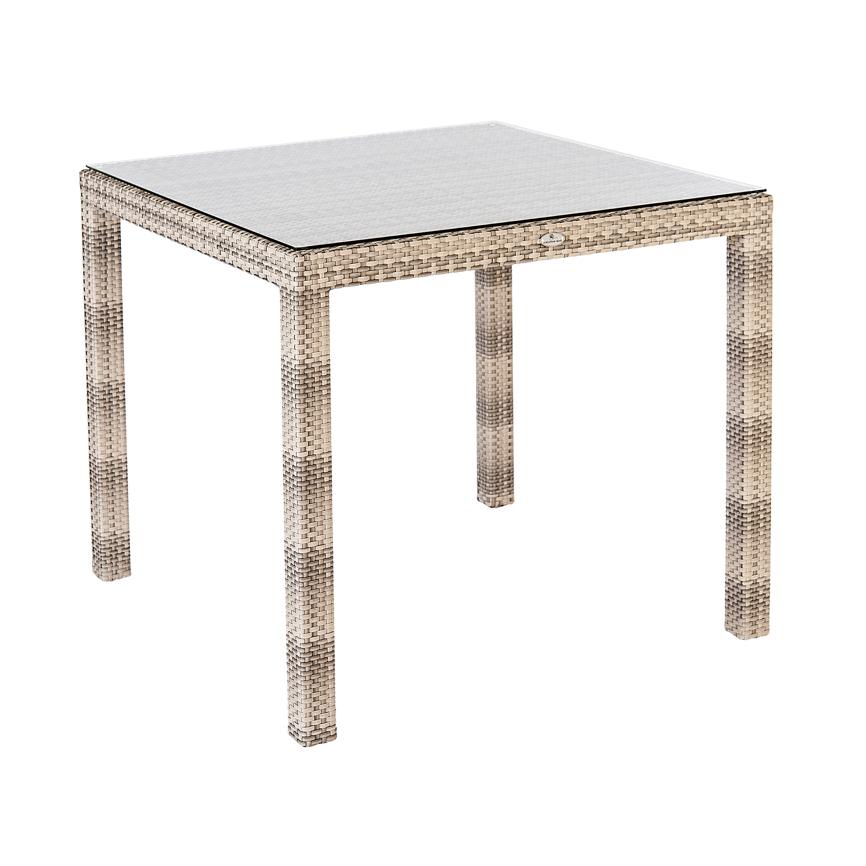 gartentisch alexander rose ocean fiji pearl esstisch 80x80 korbtisch vom gastrom bel. Black Bedroom Furniture Sets. Home Design Ideas