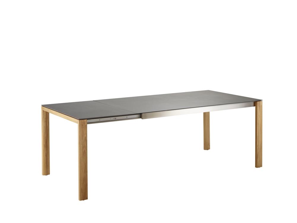 ausziehtisch solpuri safari esstisch 160 260x100 teakholz. Black Bedroom Furniture Sets. Home Design Ideas