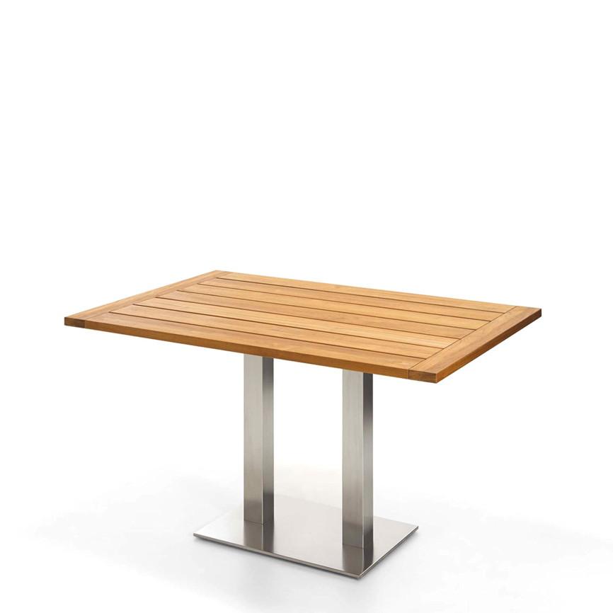 gartentisch niehoff bistrotisch 120x81 teak ge lt esstisch vom gastrom bel fachh ndler. Black Bedroom Furniture Sets. Home Design Ideas