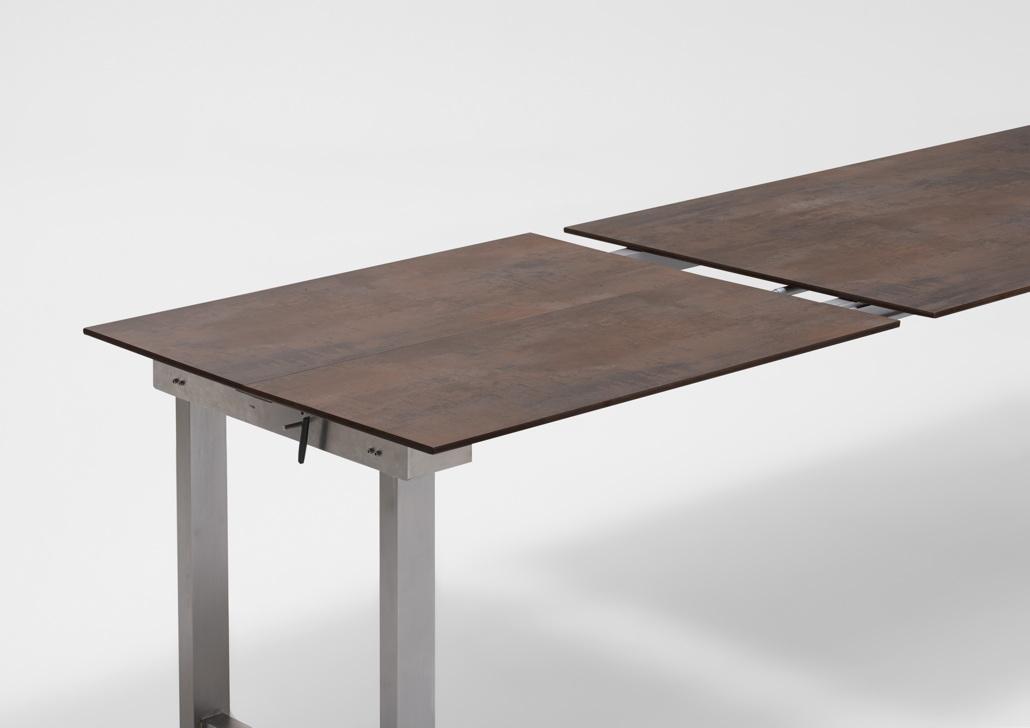 gartentisch niehoff nando ausziehtisch 200x95 hpl grau. Black Bedroom Furniture Sets. Home Design Ideas
