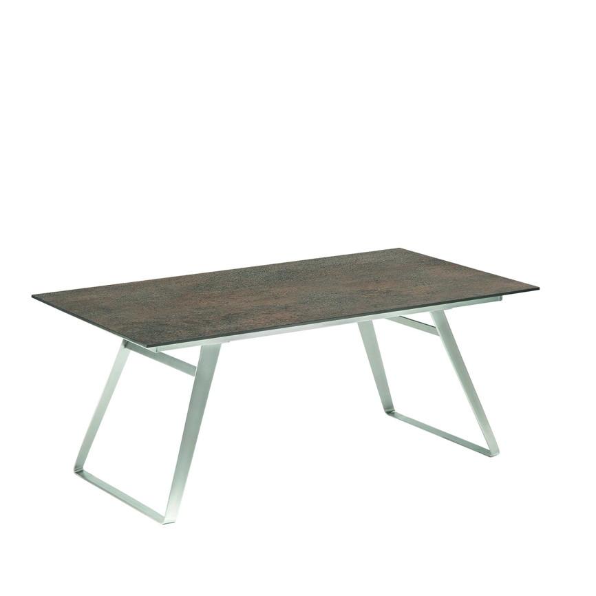 gartentisch niehoff ninon esstisch 180x95 hpl grau braun vom gastrom bel fachh ndler. Black Bedroom Furniture Sets. Home Design Ideas